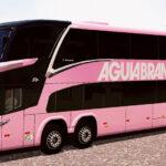 Skin Marcopolo New G7 8X2 - Aguia Branca Rosa
